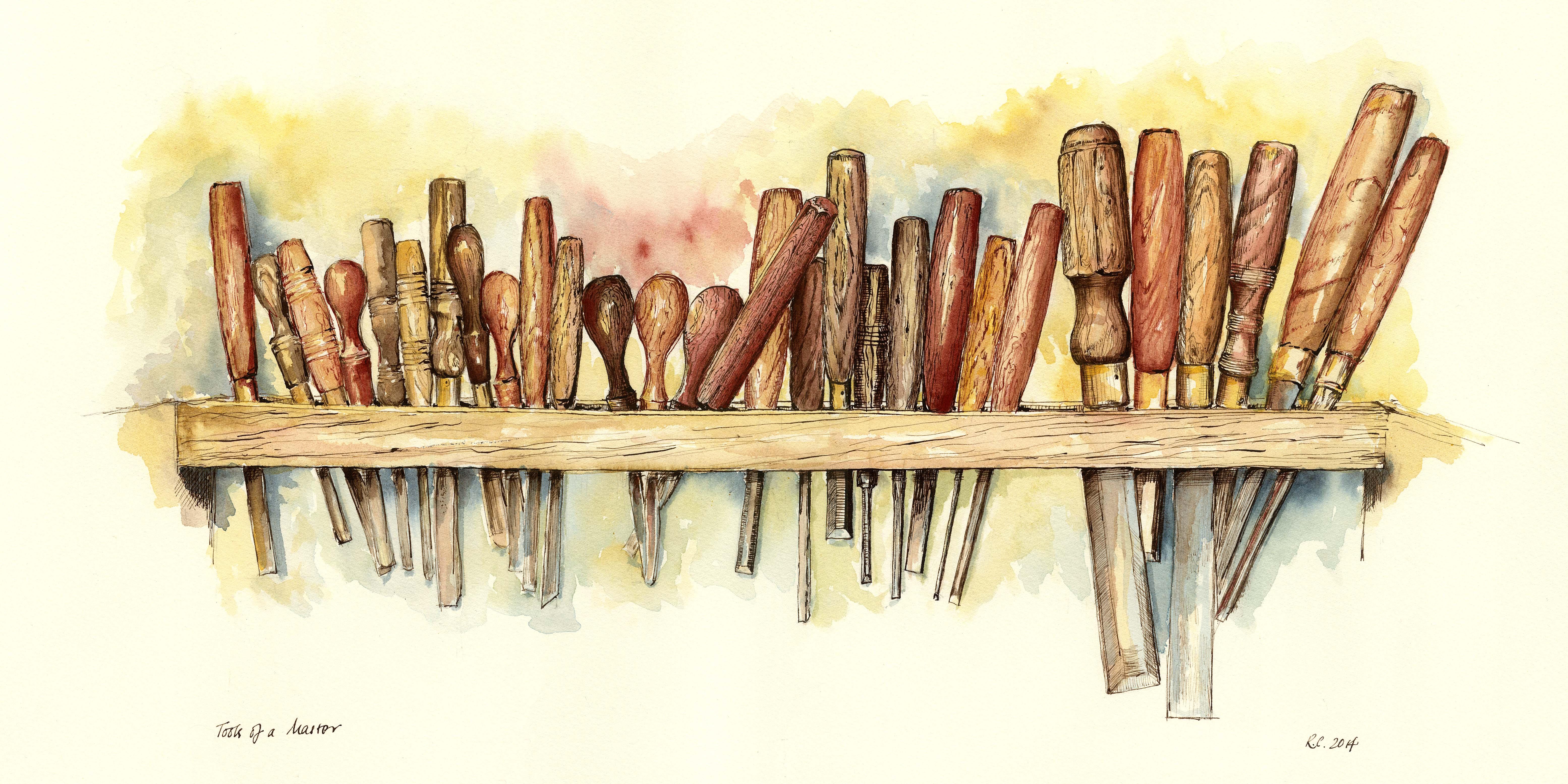 Pomoćni slikarski materijal, valjci i alat